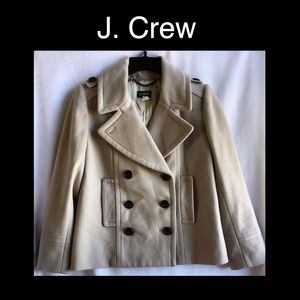J. Crew Wool Pea Coat  Size Small P0
